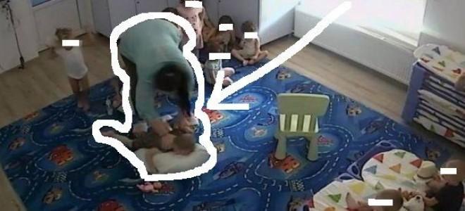 CREŞA ORORILOR în Timişoara. COPII ABUZAŢI FIZIC de o BRUTĂ TURBATĂ de furie. Video