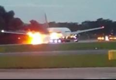 ALERTĂ pe Aeroportul Băneasa - Un avion a fost cuprins de FLĂCĂRI