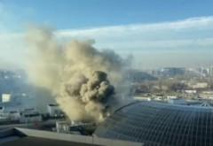 Incendiu la mall-ul AFI Cotroceni! Pompierii intervin cu autospeciale
