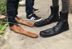 Un meșter din Cluj a inventat pantofii de DISTANȚARE SOCIALĂ. Cât costă o pereche?