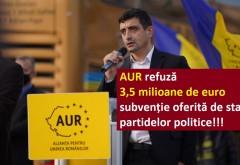 """Surpriză uriașă: AUR va renunţa la subvenţia de peste 3,5 milioane de euro acordată partidelor pentru anul 2021 şi va iniţia o lege prin care """"să fie oprit acest jaf din banii publici"""""""