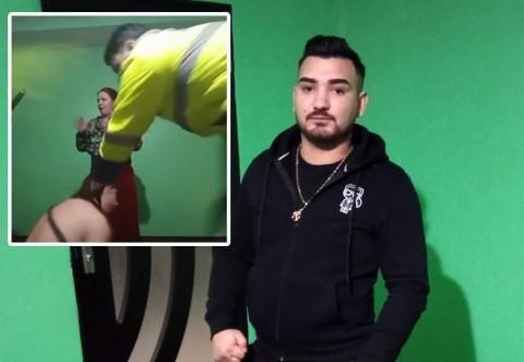 """Alyn Spanyolu Legenda Vie (un celebru """"interlop"""" din comuna Merișcani, județul Argeș) a fost arestat Live, în tip ce transmitea o petrecere pe Facebook.  Polițiștii au văzut filmarea și au intrat peste el în casă"""