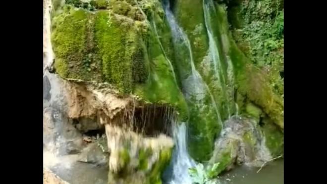 VIDEO. Momentul în care Cascada Bigăr se prăbuşeste