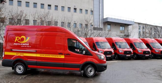 """Poșta Română a cumpărat 180 de mașini noi. """"Ţintim reducerea timpilor de livrare"""""""