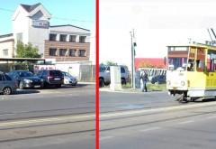 Accident in Ploiesti, langa Gara de Vest. Un sofer a fost izbit de tramvai