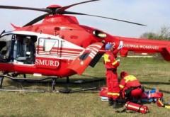 Accident grav la Barcanesti. Batran de 83 de ani, spulberat pe trecere. A aterizat elicopterul SMURD