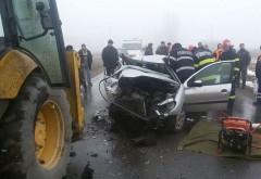 Accident in Ploiesti, pe strada Buda. Un buldoexcavator a intrat in coliziune cu o masina