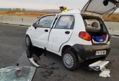 Accident mortal pe DN1, la Baicoi. Doua femei si-au pierdut viata intr-un Matiz FOTO GALERIE