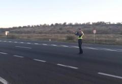Actiune a politistilor, pe DN1, zona Comarnic-Banesti. Sofer prins zburand cu 154 km/h