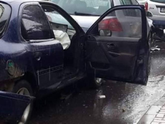 Accident cu 3  masini, in Campina