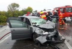 Accident la Paulesti. 4 masini implicate