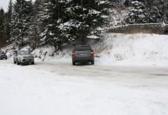 Drumul catre Cota 1400 a fost INCHIS din cauza zapezii