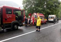 Accident pe Centura Sinaia. Trei masini implicate, doua victime. Trafic BLOCAT