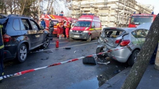 Accident in Boldesti Scaeni. O victima, transportata la spital