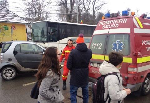 Accident la Barcanesti, pe DN1. O femeie a fost lovita de masina