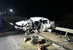 Accident mortal la Loloiasca, azi noapte. Un Audi a depasit un TIR si a lovit frontal un Logan