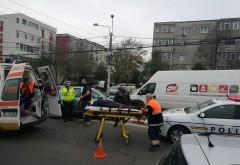 Accident in Ploiesti, in giratoriul de la West Mall. Un biciclist a fost lovit de masina
