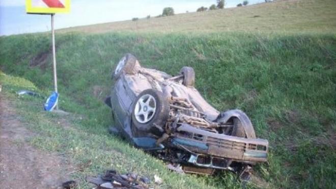Accident pe DN1, zona Movila Vulpii. O masina s-a rasturnat