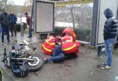 Accident in Ploiesti, pe Soseaua Nordului. Un motociclist a fost lovit de tramvai