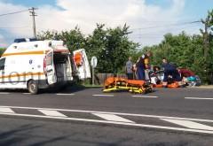 Accident grav la Comarnic. O femeie a fost spulberata de 2 masini