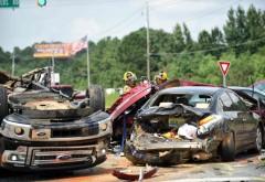 Accident in Prahova, la Baba Ana. Patru victime, dupa ce doua masini s-au facut zob