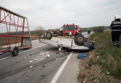 Accident MORTAL la Targsoru Vechi. Doua masini s-au izbit frontal