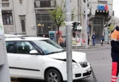 Un nou accident in intersectia de la Hotel Central