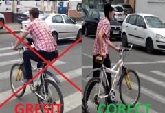 Accident la Bucov. Un tanar care traversa pe la trecere, pe bicicleta, a fost lovit de masina