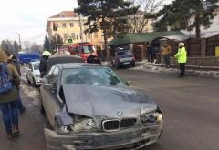 Accident in Ploiesti, pe strada Calomfirescu. Un barbat a ajuns la spital