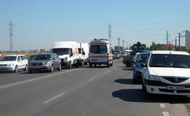 Accident pe DN1, zona Movila Vulpii. 3 masini implicate