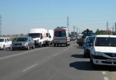 Accident pe DN1, zona Movila Vulpii. 3 masini implicate