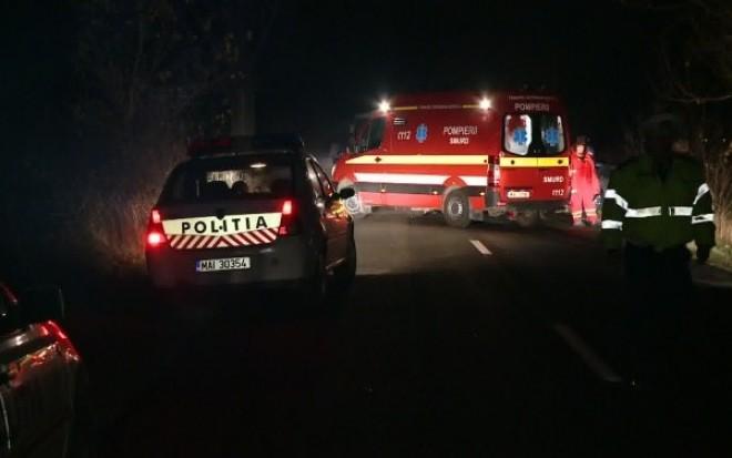 Accident la Valea Calugareasca, pe DN1B. Un sofer a intrat intr-un cap de pod