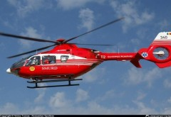 Accident grav la Potigrafu. O masina s-a rasturnat. Elicopterul SMURD a aterizat la fata locului