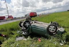Accident pe DN1, la Baicoi. 4 masini implicate, una s-a rasturnat