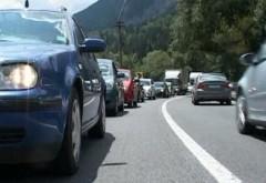 Trafic dirijat pe DN1, la Comarnic. Se efectueaza lucrari de asfaltare