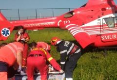 Accident grav in Prahova, la Podenii Vechi. O tanara de 18 ani a fost preluata de elicopterul SMURD