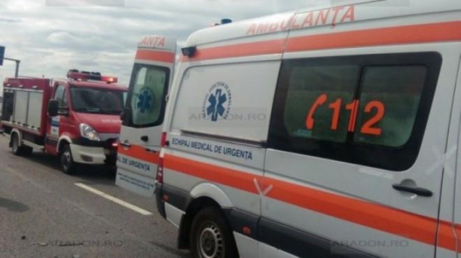 Accident pe DN1, la Comarnic. Un sofer a ramas incarcerat