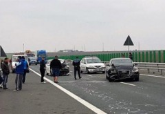TRAFIC BLOCAT pe Autostrada Soarelui - Carambol cu TREI MAȘINI