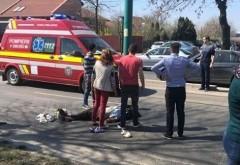 Accident la Magurele, pe DN1A. Un scuterist a fost lovit de masina