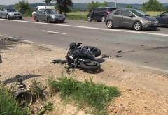 Accident pe DN1A, la Magurele. Un motociclist a ajuns la spital