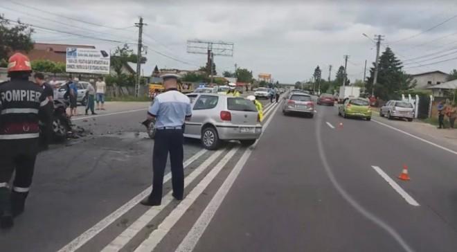Accident pe DN1, la Barcanesti. O șoferiță de 71 de ani a făcut TREI VICTIME