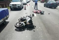 Accident grav la Comarnic, pe DN1. Un pieton a murit dupa ce a fost lovit de un motociclist