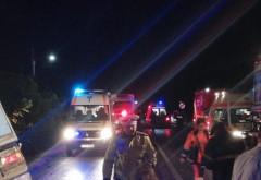 Carnagiu pe o sosea din Ialomita. 10 morti si 7 raniti, dupa ce un TIR a lovit in plin un microbuz