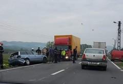 Accident pe DN1, intre un TIR si doua autoturisme. Doua victime