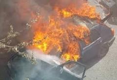 O masina a luat foc in parcarea Kaufland Nord din Ploiesti