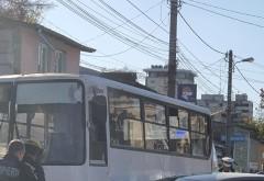 Accident in Ploiesti, pe strada Postei. Un autobuz si un autoturism implicate