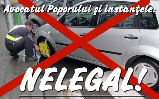 BLOCARE ROȚI. Când este ilegală blocarea roților la mașini