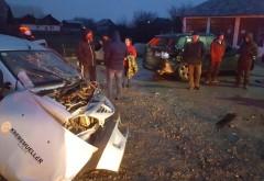 Accident grav la Bratasanca, pe DN72. Doua masini s-au facut zob dupa ce au intrat in coliziune cu un TIR