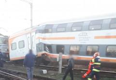 BREAKING/ Doua trenuri s-au ciocnit in gara Ploiesti Triaj. La un pas de TRAGEDIE