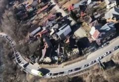 Coloane de maşini de kilometri pe DN1. Aglomeraţie pe Valea Prahovei